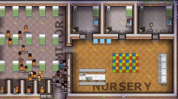 Prison Architect update adds female inmates that might come with babies who you will need to take special care off by building nurseries and other facilities