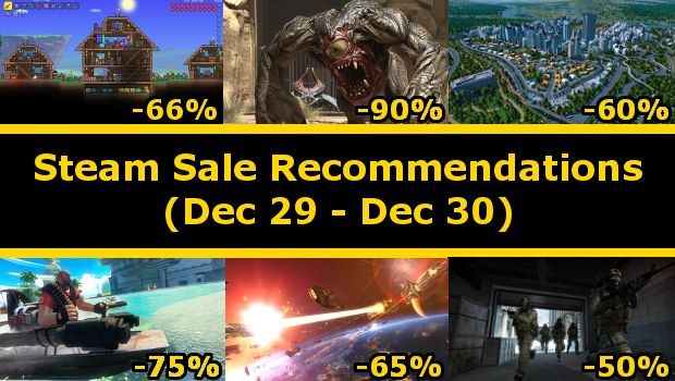 My recommendations for the Steam Winter Sale of December 29 through December 30