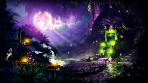 Trine 2 screenshot of a moonlit night