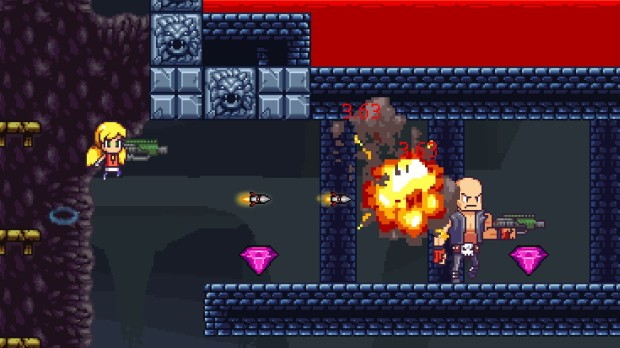 My review for Cally's Caves 3 - a colorful and rather difficult action platformer