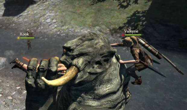 Dragon's Dogma screenshot of an Ogre eating my character