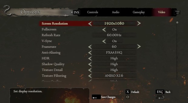 Dragon's Dogma PC video settings