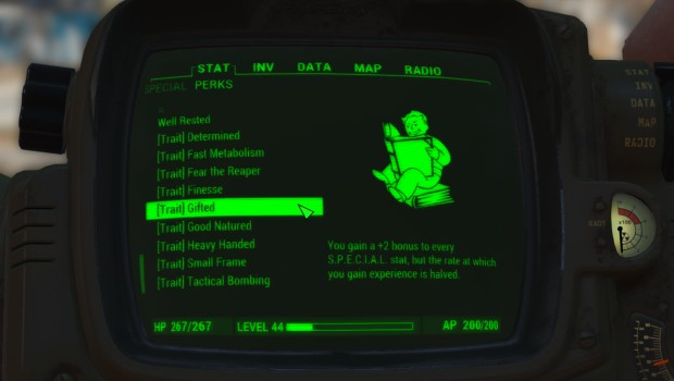 Fallout 4 mod adds a good assortment of well balanced perks and traits