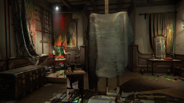 Layers of Fear screenshot of a dirty canvas