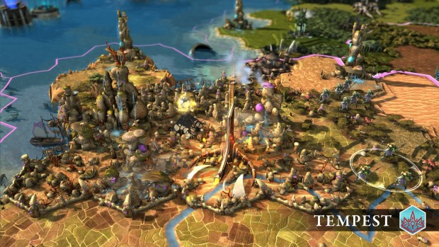 Endless Legend Tempest screenshot showcasing a Morgawr city