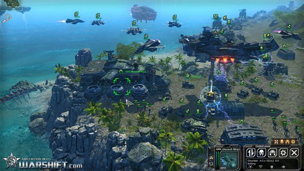 Warshift's RTS gameplay screenshot