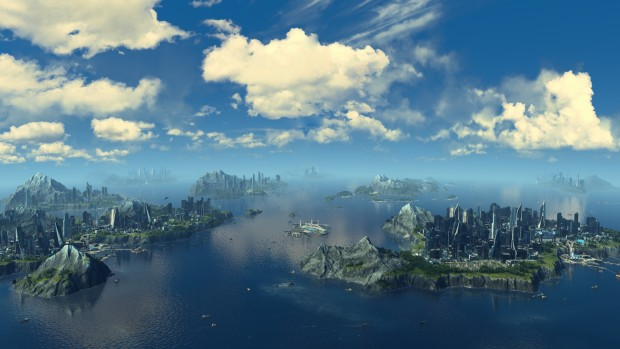 Anno 2025 Frontiers DLC screenshot showcasing a bunch of islands