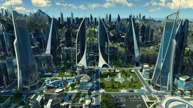 Anno 2025 Frontiers synthetic city screenshot