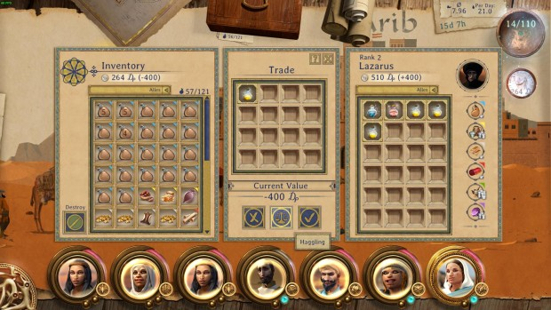 Caravan screenshot showcasing the trading menu