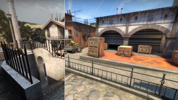 CS:GO comparison image for Inferno's A point