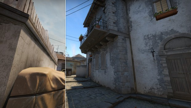 CS:GO Inferno banana comparison between new and old version