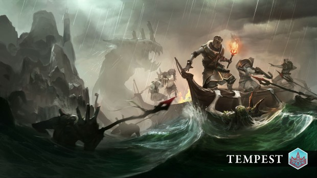 Endless Legend Tempest artwork showing a naval battle