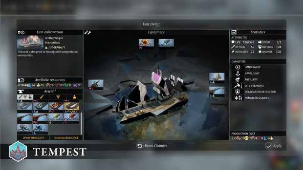 Endless Legend: Tempest screenshot of a ship