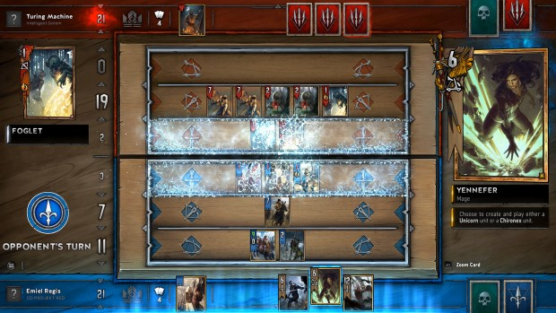 Biting Frost card from the standalone Gwent Witcher 3 card-game