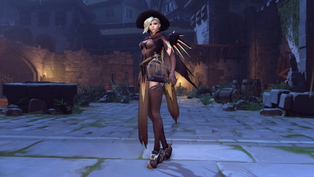 Overwatch's Halloween Witch Mercy cosmetic skin