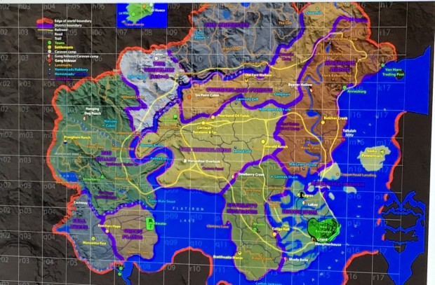 Red Dead Redemption 2 leaked map