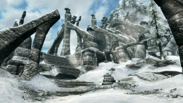 Skyrim Special Edition snowy screenshot