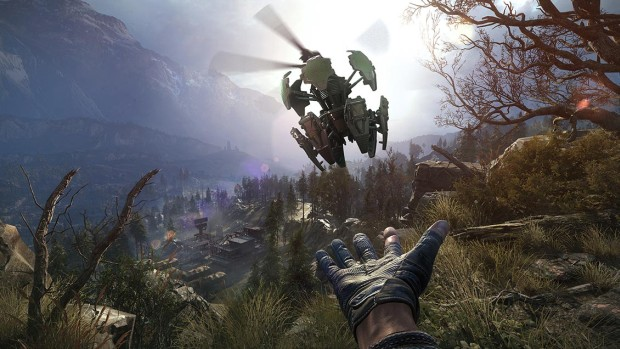 Sniper Ghost Warrior 3 screenshot of a character throwing a drone