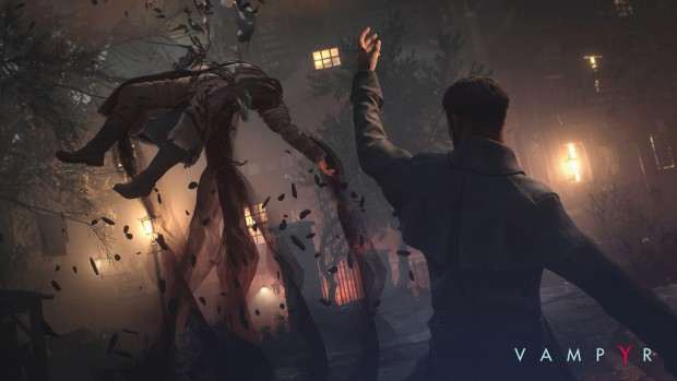 Vampyr screenshot of our protagonist using magic