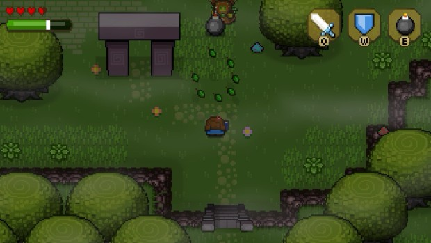 Blossom Tales - fighting against druids with bombs