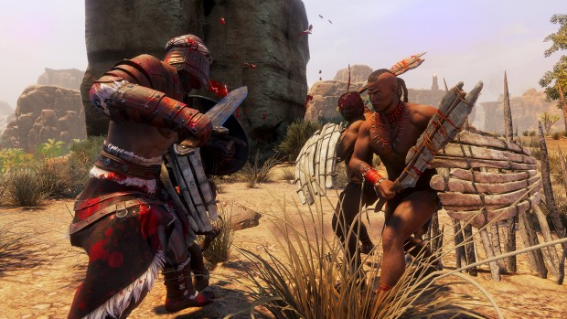 Conan Exile screenshot showcasing a fierce battle