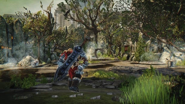 Darksiders Warmastered Edition screenshot showing off a lush forest