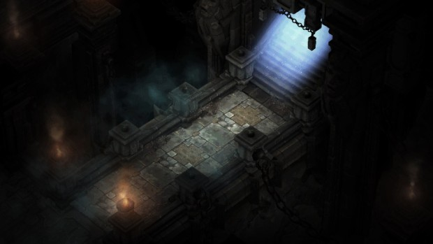 Diablo 1's cathedral entrance recreated in Diablo 3