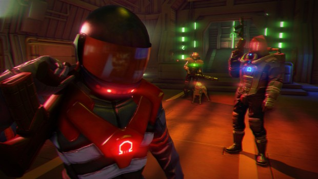 Far Cry 3: Blood Dragon marines and a robo-dog