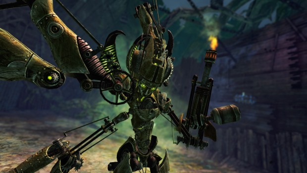Guild Wars 2 screenshot showing off a robotic monstrostiy