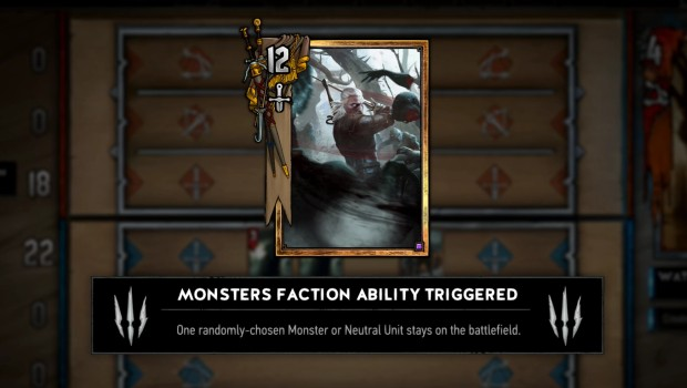 Gwent's Monster decks features some luck based elements