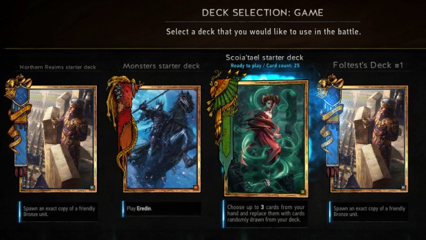 Gwent's four starter decks