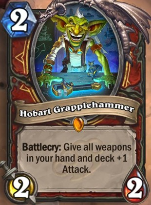Hearthstone's upcoming card Hobart Grapplehammer