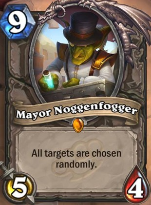 Hearthstone's Mayor Noggenfogger card