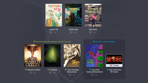 Humble 'Day of the Devs 2016' Bundle screenshot showcasing all of the games
