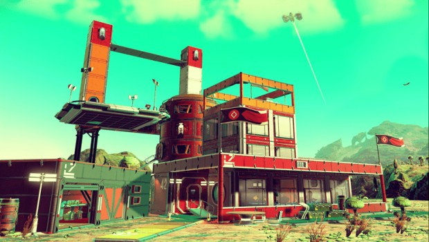 No Man's Sky screenshot showing the new base building system