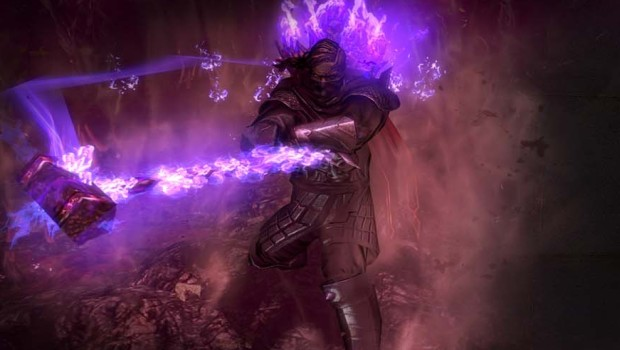 Path of Exile Breach artwork showing a spectral hammer spell