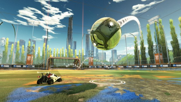 Rocket League's new training session screenshot