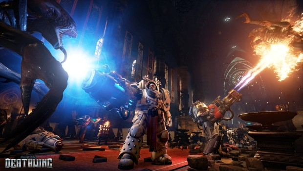 The Heavy Flamer and Plasma Rifle from Space Hulk: Deathwing in action