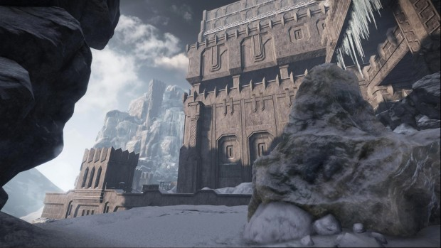 Warhammer End Times Vermintide Karaz Azgaraz screenshot showing the great fortress from outside