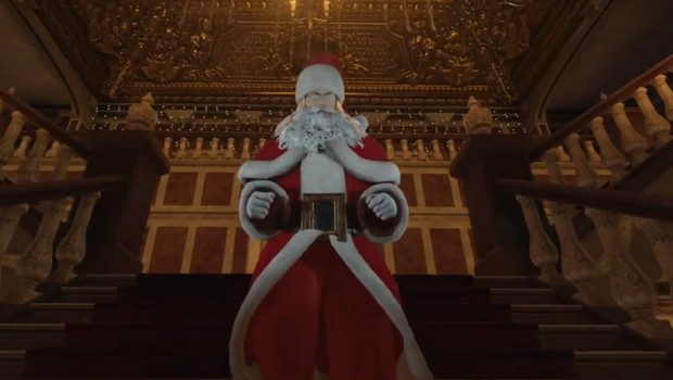 Hitman's Agent 47 dressed up as a proper Santa Claus