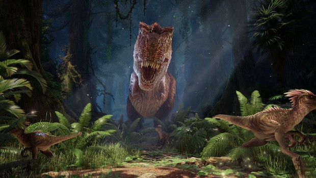 Ark Park screenshot showcasing a giant T-REX