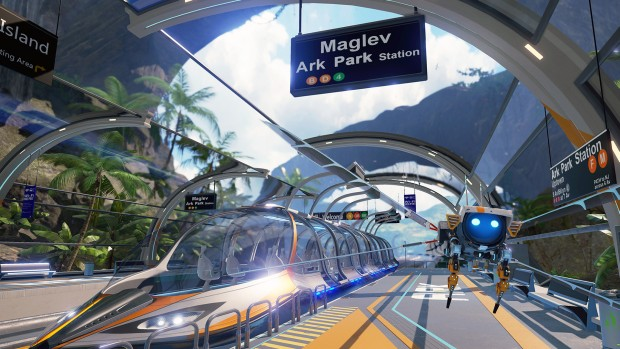 Ark Park screenshot featuring the maglev train