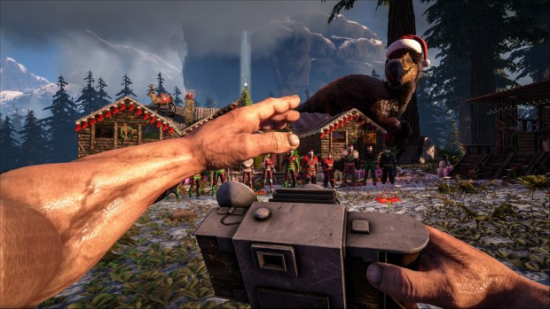 Ark: Survival Evolved's Raptor Claus screenshot