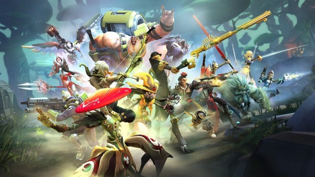 Battleborn artwork showing most of the characters
