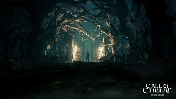 Call Of Cthulhu RPG screenshot of giant gates