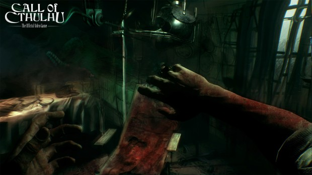 Call of Cthulhu screenshot showcasing the effects of madness