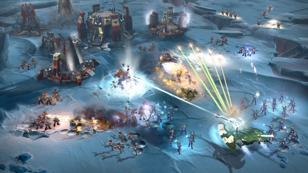 Dawn of War 3 Eldar attacking a Space Marine base