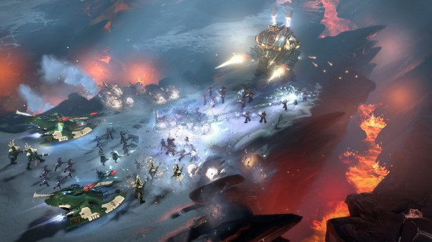 Dawn of War 3 Space Marines vs Eldar