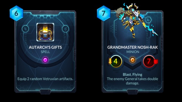 Grandmaster Nosh-Rak from the Duelyst Rise of the Bloodborn expansion