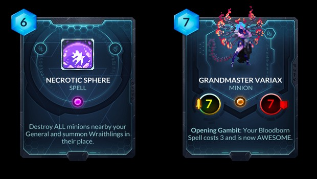 Grandmaster Variax card from the Duelyst Rise of the Bloodborn expansion